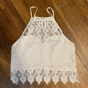 Acemi white lace tank.